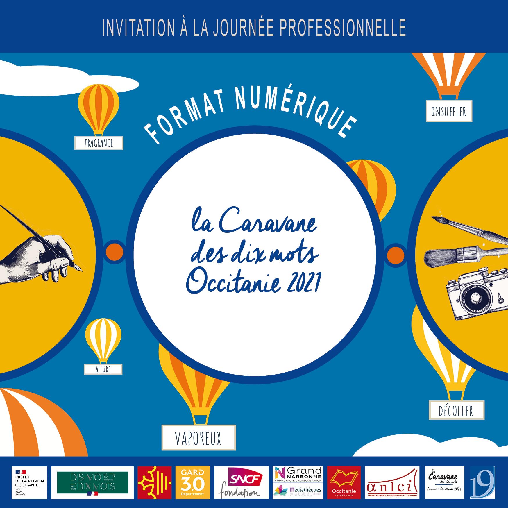 La Journée professionnelle de la Caravane des dix mots Occitanie 2021 se déroulera à distance le 25 mars 2021