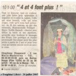 4et4fontplus-le dauphine 20juillet05