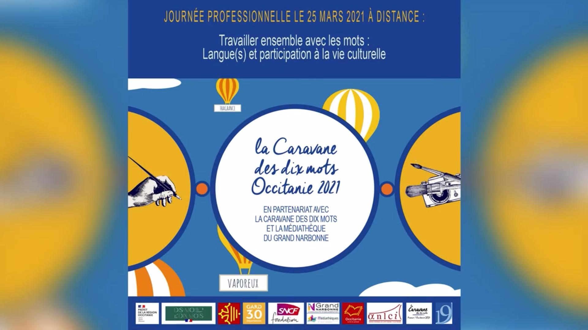 Film de la Journée Professionnelle – Caravane des 10 mots Occitanie